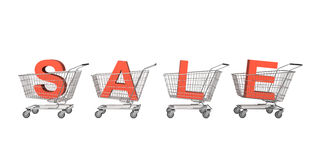 Sale shopping carts Stock Image