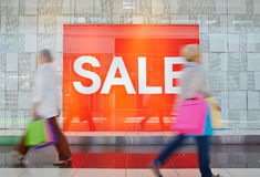Sale in shopping center Stock Image