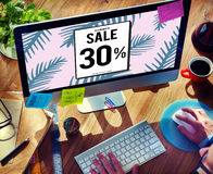 Sale Shopping Discount Promotion Consumer Concept Stock Images