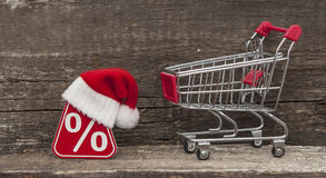 Sale, shopping and discounts for Christmas gifts. Royalty Free Stock Image