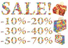Sale shopping element Stock Image
