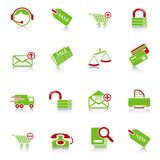 Sale and shopping icons Royalty Free Stock Photos