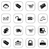 Sale and shopping icons Stock Image