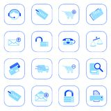 Sale and shopping icons - blue series Stock Image