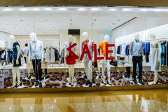 Sale at the shopping mall Stock Photo