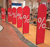 Sale in a shopping mall Stock Photo