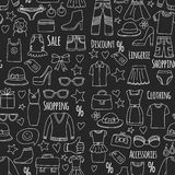 Sale Shopping Market Internet shop Discount Vector set of doodle icons for sale. Hand drawn icons Royalty Free Stock Photos