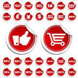 Sale and Shopping Stickers Royalty Free Stock Image