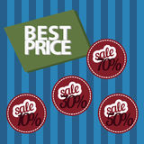 Sale shopping stickers, labels, signs set Stock Images