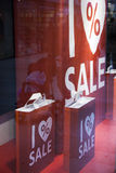 Sale in shopping window Stock Images