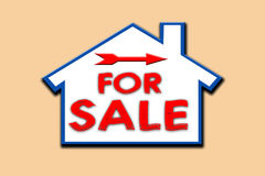 For sale sign. House for sale royalty free illustration