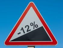Sale sign. Sale! Minus twelve percents (road sign Stock Photos
