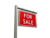 For sale sign. Isolated on a white background (3d render Stock Photos