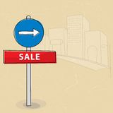 Sale sign. Vector illustration of sale sign Royalty Free Stock Images