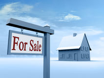 For sale sign. House for sale. Real estate sign Stock Photography