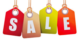 Sale sign. Isolated on white background Stock Images
