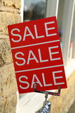 Sale Sign. A sign indicating that there is a sale Royalty Free Stock Photo