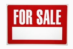 For sale sign. Royalty Free Stock Photo