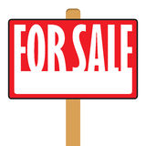 For Sale Sign. A for sale sign with copy space in vector format Royalty Free Stock Photos