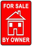 For Sale Sign. For sale by owner sign with red background Royalty Free Stock Photography