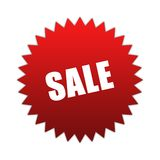 Sale sign. Red sale sign isolated on white Royalty Free Stock Photography