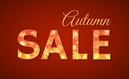 Sale sign for autumn season Royalty Free Stock Photography