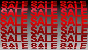 Sale sign banner background for promo, concept of sale and clearance 3D rendering