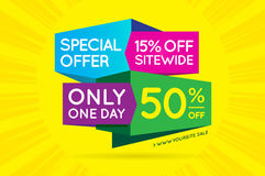 Sale Sign Banner Poster ready for Web and Print. Vector. Super, royalty free illustration