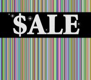 Sale sign with colorful background Royalty Free Stock Images
