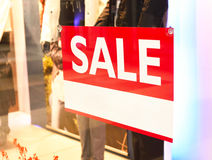 Sale sign with copy space in a shop window Stock Images