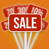 Sale Sign with a Discount Blurred Vector Sale Signs Stock Photography