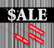 Sale sign and discount tag Royalty Free Stock Image