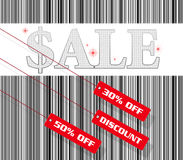 Sale sign and discount tag Stock Images