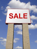 Sale sign. At the front of store Stock Photos