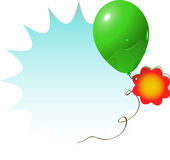 Sale sign green balloon Royalty Free Stock Photo