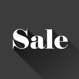 Sale sign on grey background Stock Images