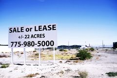 For sale sign grounds in the South Strip in Las Vegas. A for sale sign grounds in the South Strip in Las Vegas, Nevada, on Oct 26, 2015. Las Vegas Stock Images