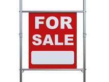 For sale sign hanging with metal pipe Stock Photo