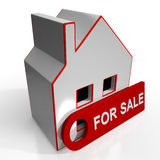 For Sale Sign On Home Royalty Free Stock Image