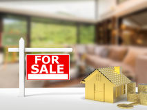 For sale sign house Stock Photography