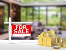 For sale sign house Royalty Free Stock Photography