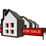 For Sale Sign On House Stock Photo