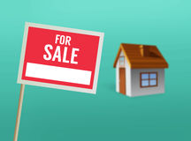 For sale sign and house vector Stock Image