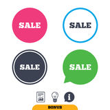 Sale sign icon. Special offer symbol. Royalty Free Stock Image