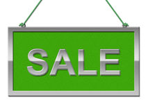 Sale Sign Indicates Signboard Discounts And Promotional Royalty Free Stock Image
