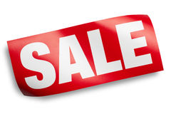 Sale sign isolated with clipping path Stock Images