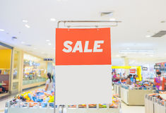Sale sign on mall Royalty Free Stock Photos