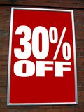 Sale sign. 30% off sale sign Royalty Free Stock Images