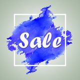 Sale sign over brush art paint abstract texture background design. watercolor design for sale shop and sale banners Stock Photo