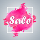 Sale sign over brush art paint abstract texture background design. watercolor design for sale shop and sale banners Royalty Free Stock Images